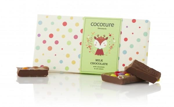 Bunte Vollmilchschokolade für Kinder mit Smarties