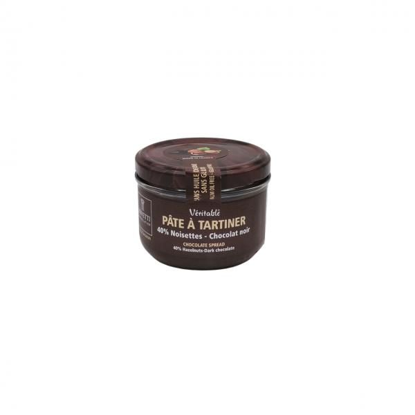 Nuss – Nougat – Aufstrich mit dunkler Schokolade 73 %