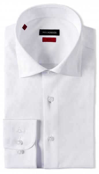 ROY ROBSON Herren Hemd aus Baumwolle Slim Fit Langarm