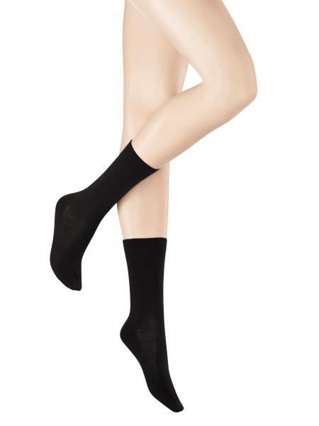 Kunert Soft Wool Cotton Damen Stricksöckchen (innen Baumwolle / außen Schurwolle)