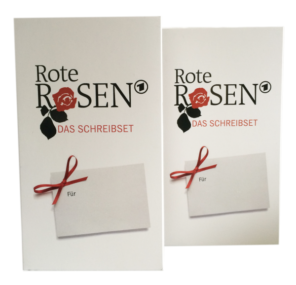 Rote Rosen - Schreibset