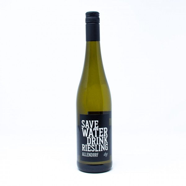 2019 SAVE WATER DRINK RIESLING dry 0,75 l