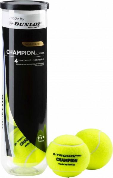 TECNOPRO Tennisbälle Champion Allcourt - 4 Stk