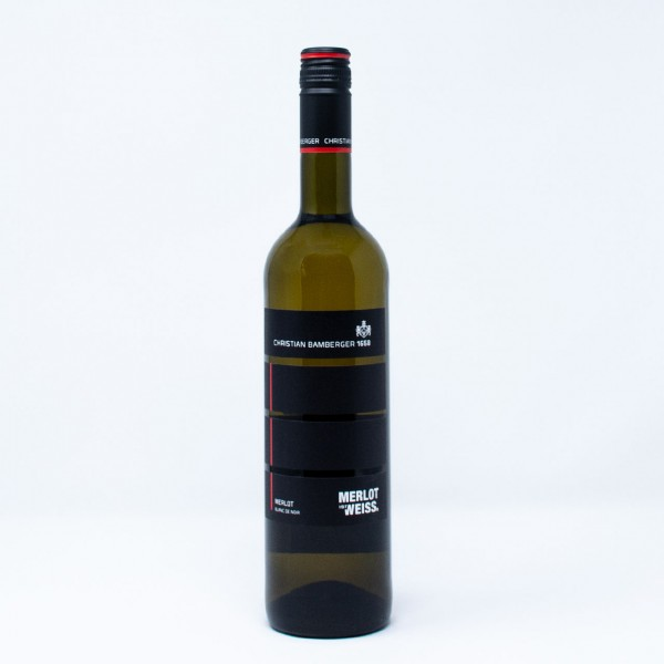 2018 MERLOT IST WEISS Blanc de Noir trocken 0,75 l Weingut Christian Bamberger, Nahe