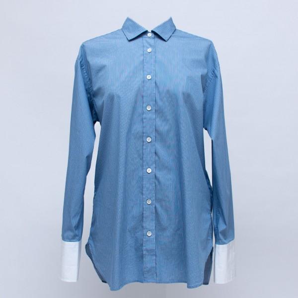 CLOSED Hemdbluse mit langer, kontrastiger Manschette