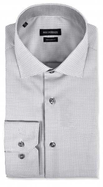 ROY ROBSON Herren Hemd aus Baumwolle Regular Fit Kent Kagen