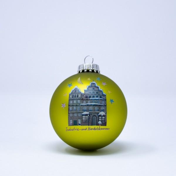 Weihnachtskugel 2013 grün