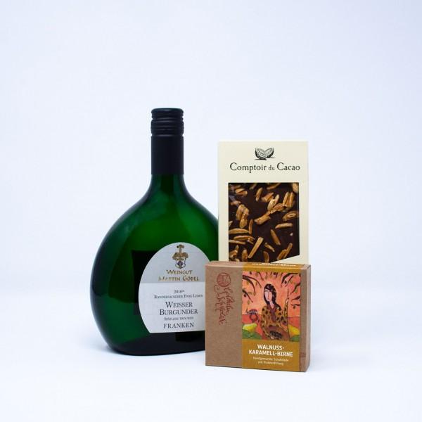 Schokolade und Weißwein