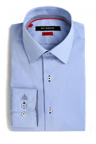 ROY ROBSON Hemd Slim fit 100% Cotton - blue (5020-A470)