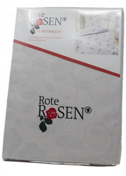 Rote Rosen – Bettwäsche (135 cm x 200 cm, 80 cm x 80 cm)