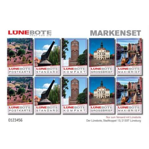 Lünebote Briefmarken gemischt