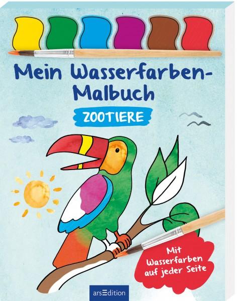 Zootiere Wasserfarben - Malbuch