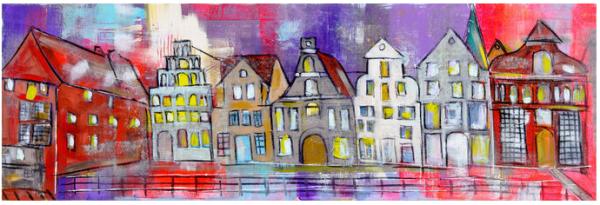 Karin Greife Kunstdruck Motiv - Sommerstint Lüneburg (2014)