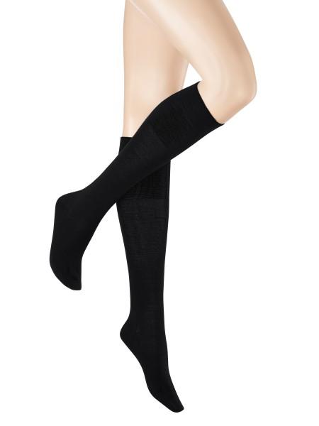 Kunert Soft Wool Cotton Damen Strickkniestrumpf (innen Baumwolle / außen Schurwolle)