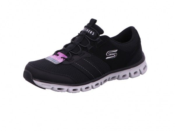 Skechers 104087 BLK GLIDE STEP - JUST BE YOU,Schwa