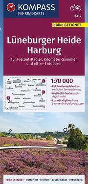 KOMPASS Fahrradkarte Lüneburger Heide, Harburg 1:70.000, FK 3314 von KOMPASS-Karten GmbH